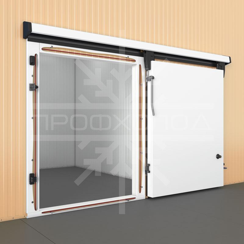 Откатная дверь средне или низкотемпературного исполнения