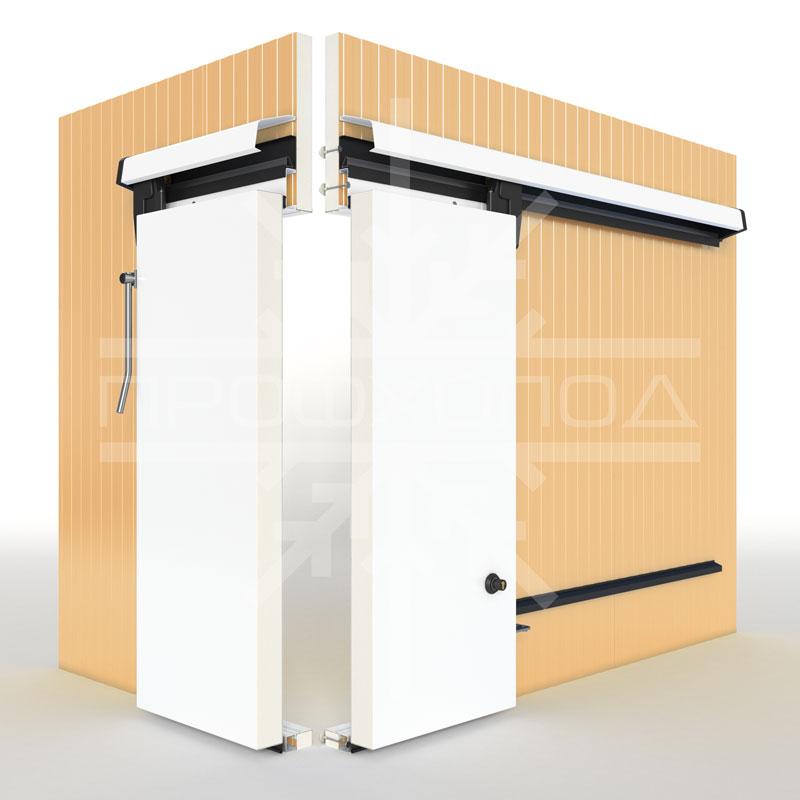 Откатная холодильная дверь в разрезе