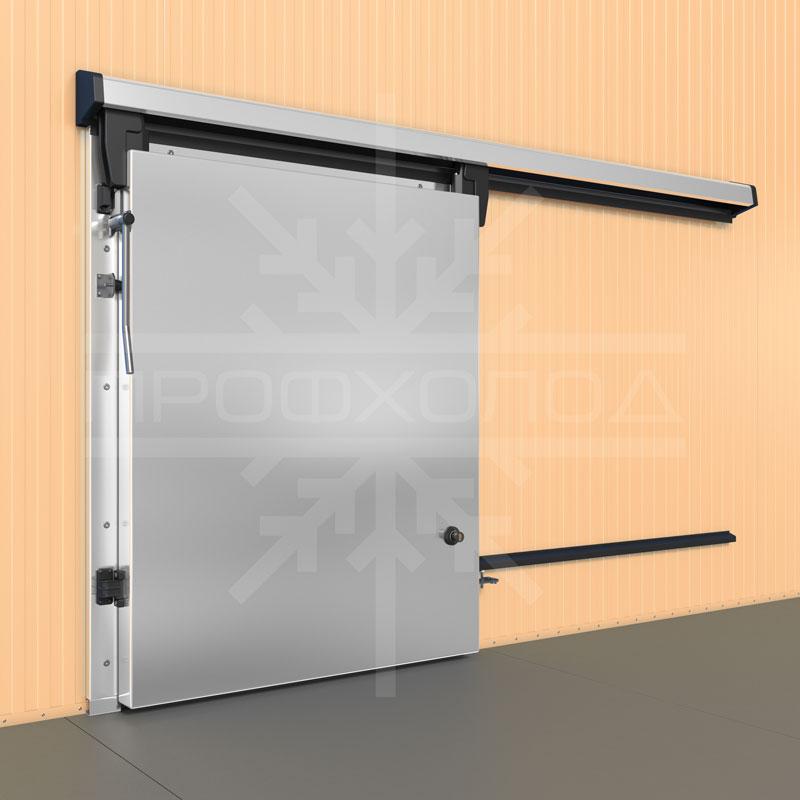 Откатная холодильная дверь стальная