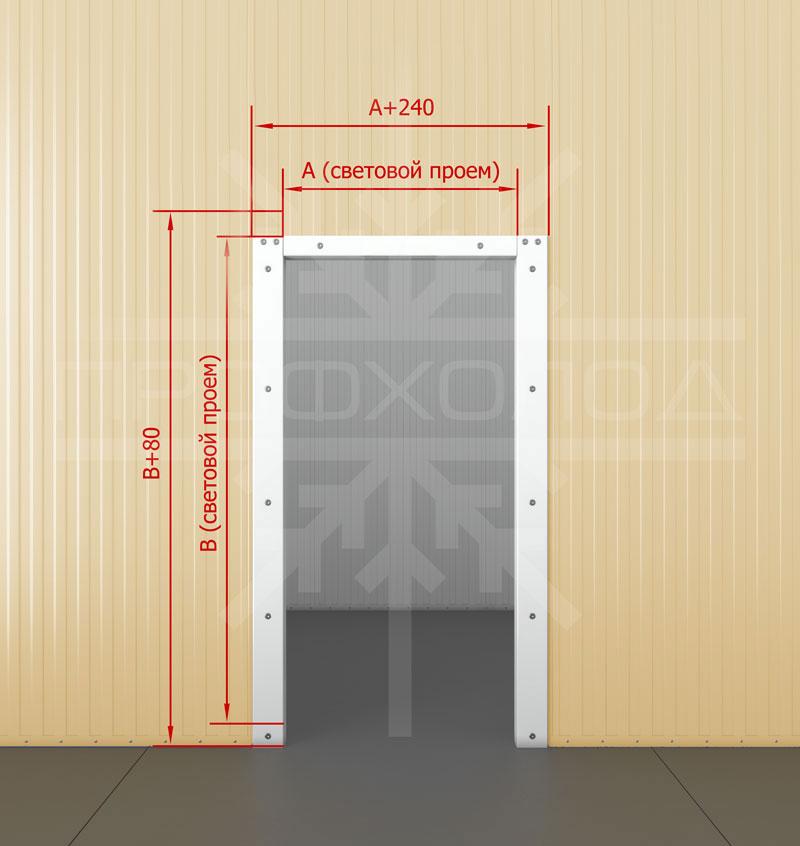 Безпороговая рама для двери РДО/РДОП