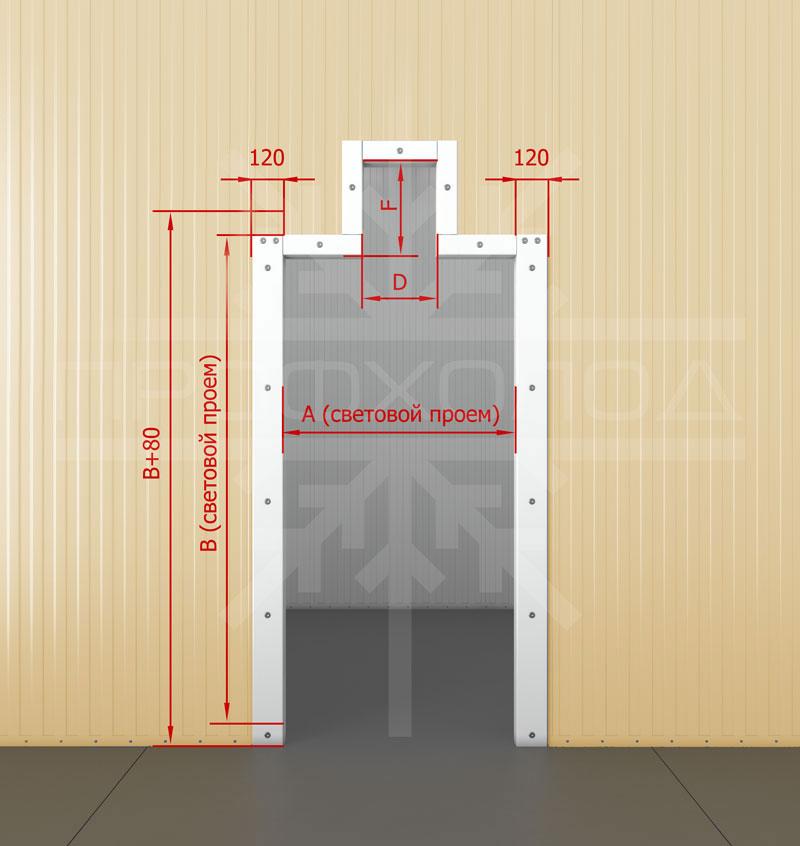 Дверная рама для двери РДО/РДОП обустроенная под монорельс без порога