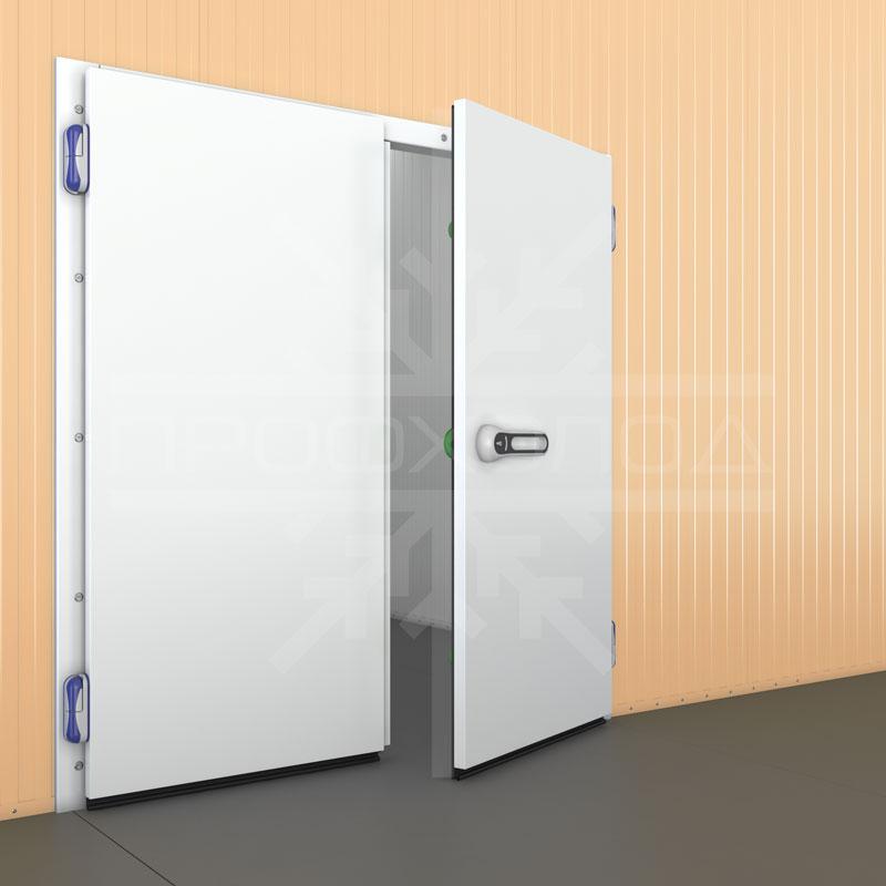Двустворчатая холодильная дверь RAL 9003