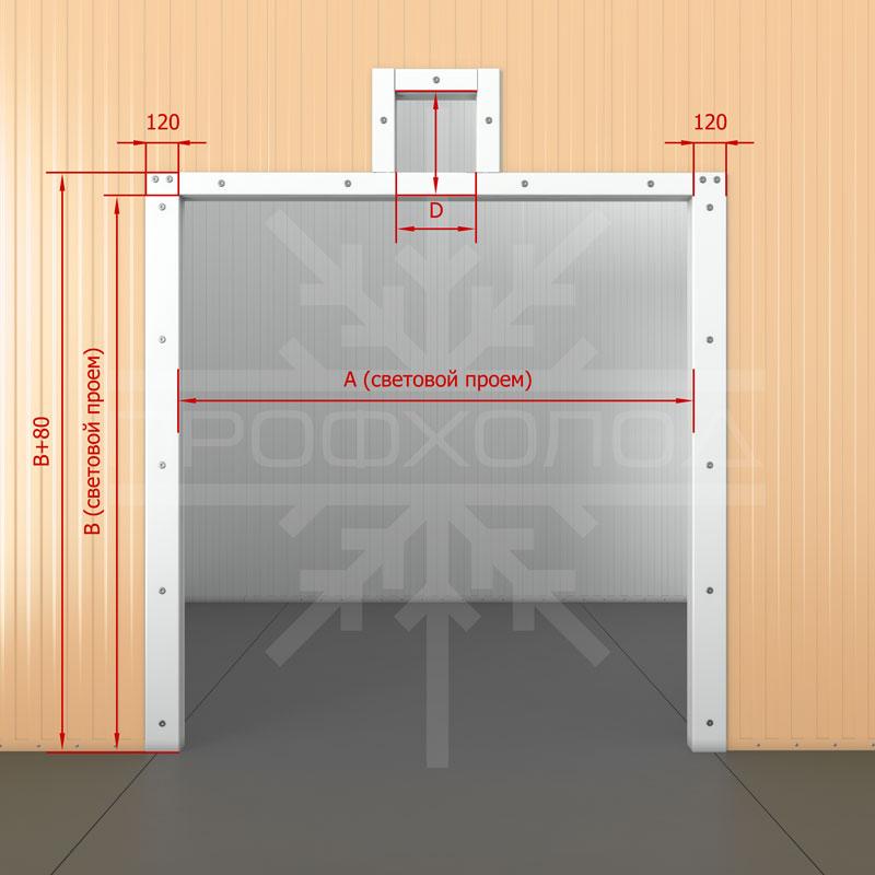 Дверная рама для двери РДД обустроенная под монорельс без порога