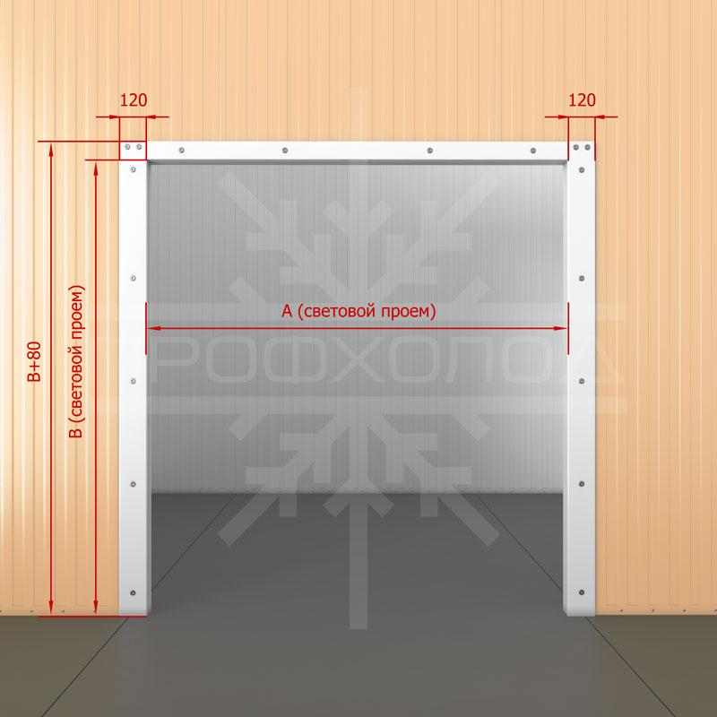 Безпороговая рама для двери РДД