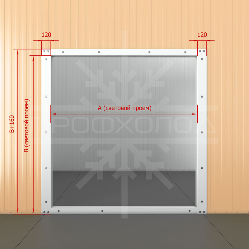 Рама с порогом для двери РДД