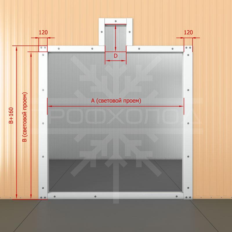 Дверная рама для двери РДД обустроенная под монорельс с порогом