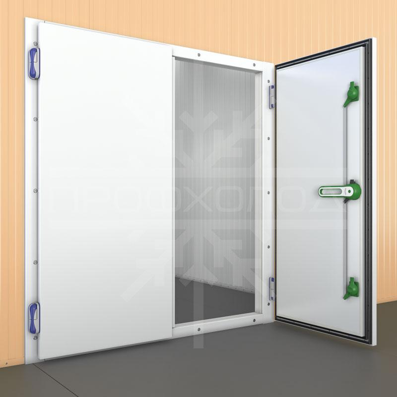 Распашные двустворчатые холодильные двери
