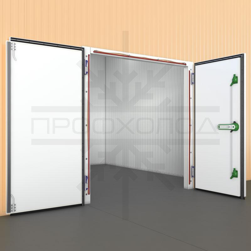 Безпороговая холодильная дверь РДД с обогреваемым ПЭНом внутри рамы
