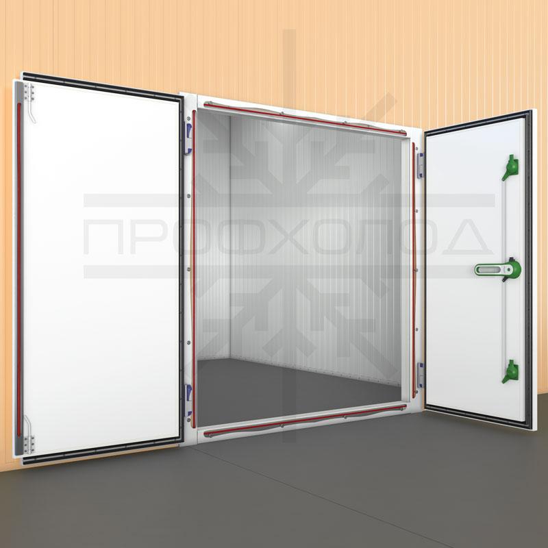 Холодильная дверь РДД с обогреваемым ПЭНом внутри рамы