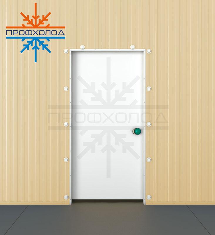 Полупотайная дверь вид с сзади